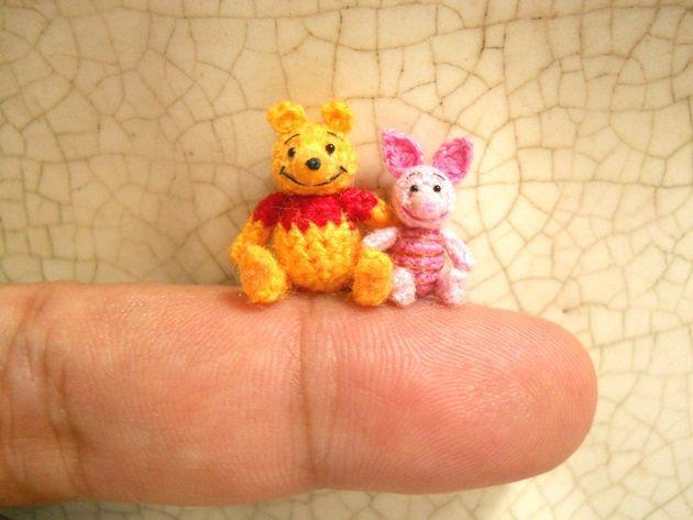 指先サイズの小さなあみぐるみ!可愛い編み針動物たち!