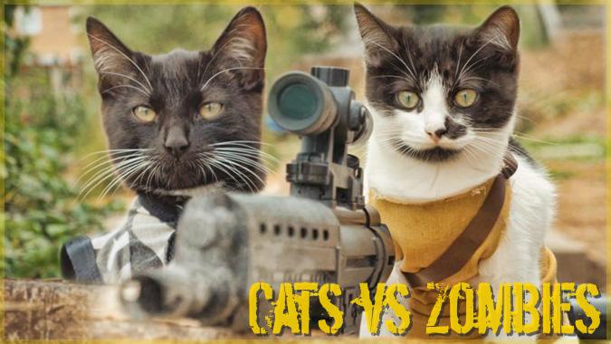 同胞を救うためにゾンビの大群に挑む2匹の子猫の短編ムービー!