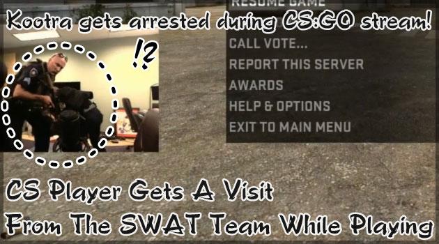 FPS放送を配信中のゲーマー宅にSWATが突入する衝撃の映像