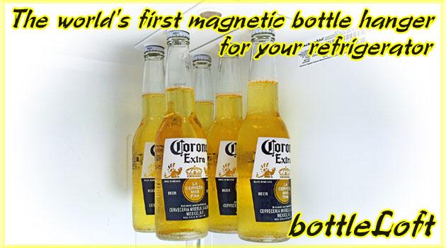 世界初の冷蔵庫用ボトルハンガー『bottleLoft』が登場!