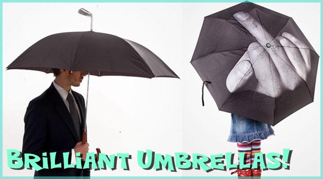 こんなアイディアがあったとは!世界の面白い傘シリーズ!