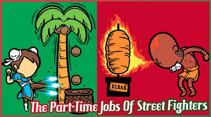 もしもストリートファイターのキャラクターがアルバイトを始めたら?