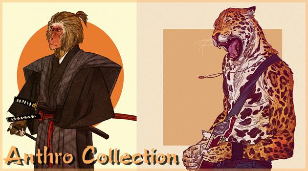 動物の雰囲気を人間のスタイルで表現した非常に興味深いイラスト作品