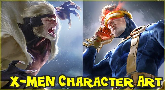 X-Menのキャラクターを90年代のアニメ風に描いたイラストシリーズ