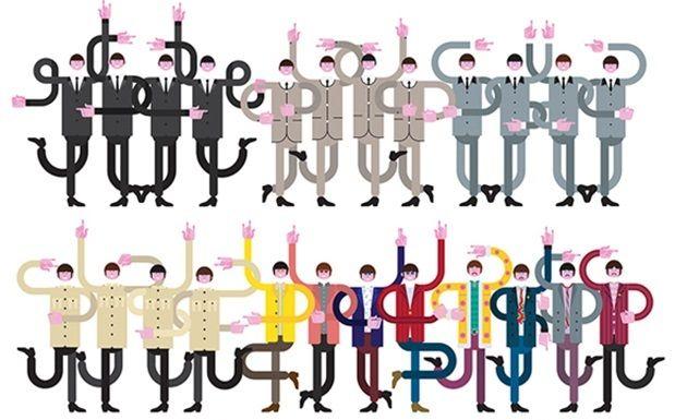 1962年から1970年までのビートルズのルックスを描いたアート!