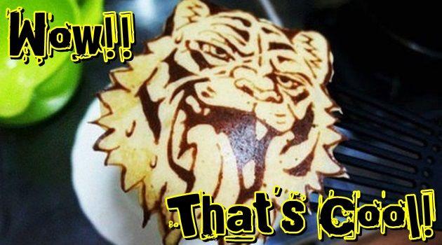 パンケーキアートの作り方!クールなトラさんを描いちゃおう!