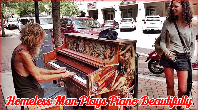 ホームレス男性による美しいピアノ演奏が海外ネットで大ヒット!