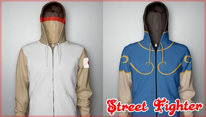ストリートファイターのキャラクターたちがパーカーになって登場!