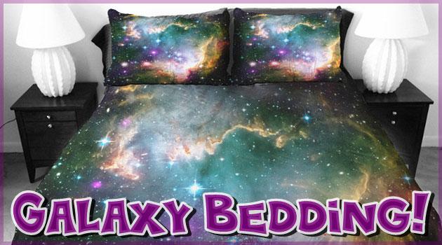 宇宙の銀河系をモチーフに制作されたギャラクシーベッド