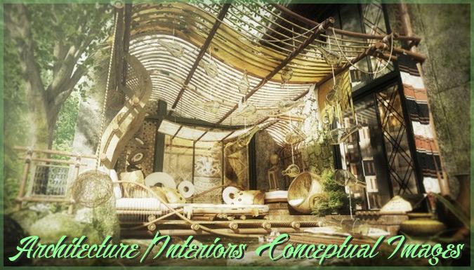 独特な雰囲気に引き込まれる建築様式とインテリアのコンセプトアート