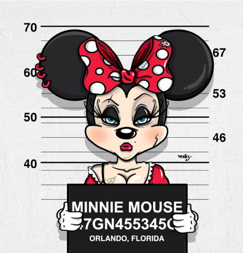 ミッキーやミニーが凶悪犯として警察に捕まっているイラスト集 パラリウム