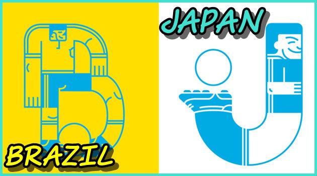 ワールドカップの参加チームをアルファベットにした作品!