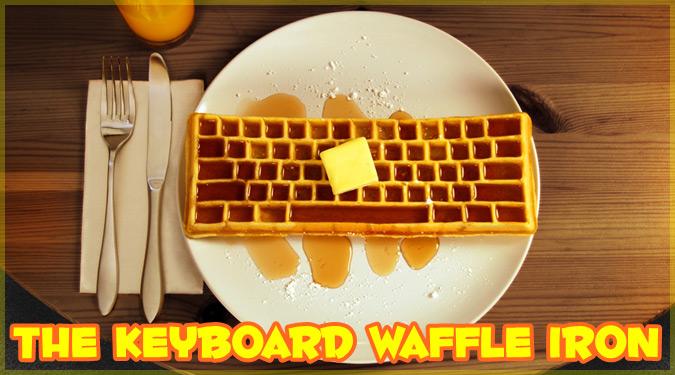 ギークには堪らない美味しそうなキーボード型ワッフル