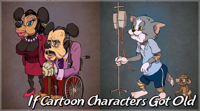 もしも海外の人気キャラクターが実際の年齢の姿で描かれていたら?
