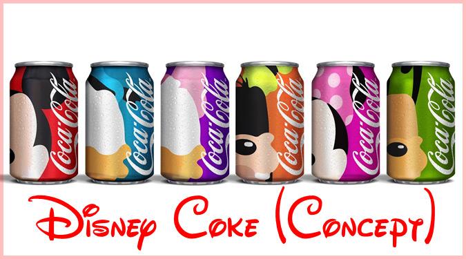 ディズニーの人気キャラクターをコカ・コーラ缶のパッケージにした作品!