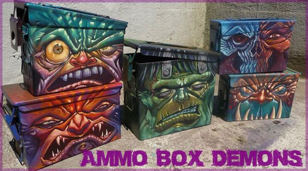 弾薬箱を悪の象徴である悪魔の姿に変えたクールな作品