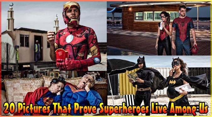 現実を生きるスーパーヒーローたちの20枚の写真集!