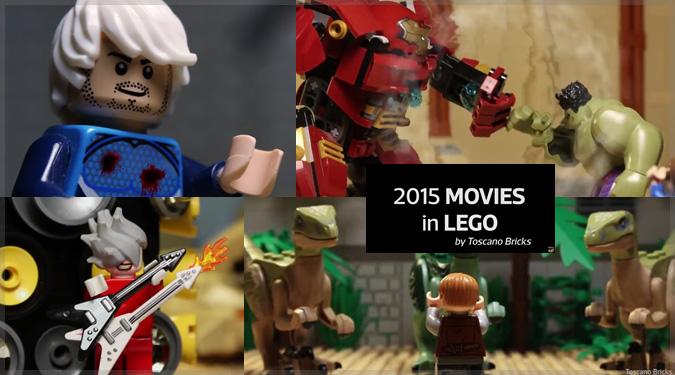 2015年の人気映画をレゴで再現したストップモーション・アニメーション!