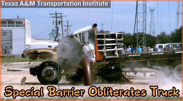 大型トラックを抹消する力を持つシンプルな特殊バリケード