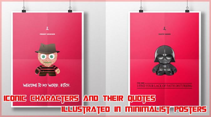 ポップカルチャーを代表するキャラクターたちのミニマルイラスト!