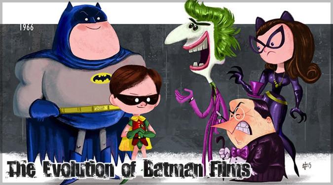 歴代のバットマン映画をイラストで表現した作品集!