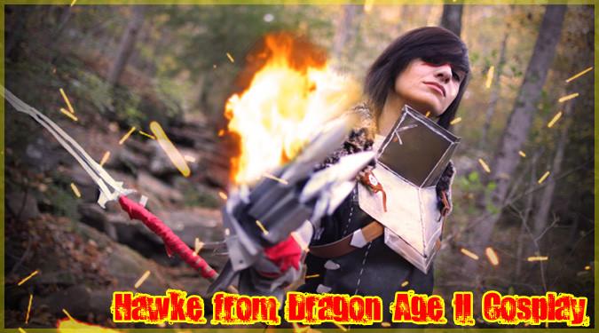 ドラゴンエイジ2の女性ホークにコスプレする海外のギークガール!