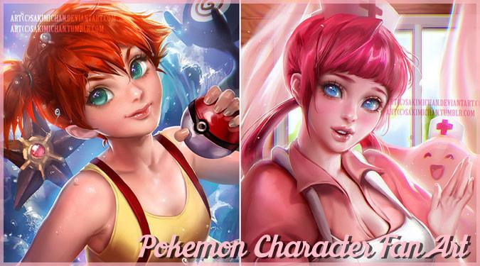 ポケモンの登場人物たちを魅力的に描いた素晴らしいファンアート