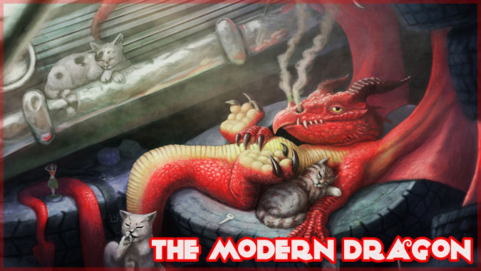 ファンタジーの世界に住むドラゴンたちのイラスト作品