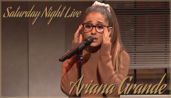 人気コメディ番組で有名な歌手のモノマネをするアリアナ・グランデ