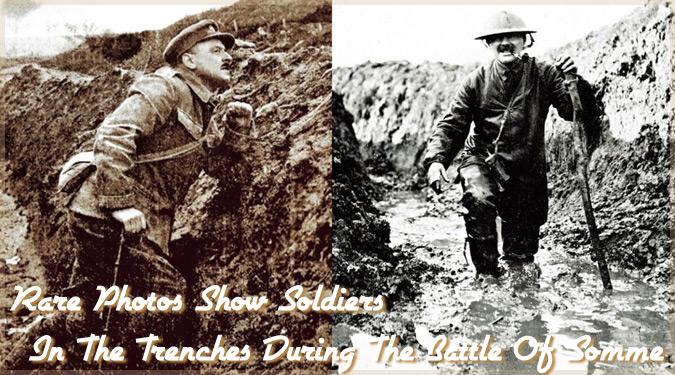 第一次世界大戦のソンムの戦いで撮影された兵士たちの貴重な写真集