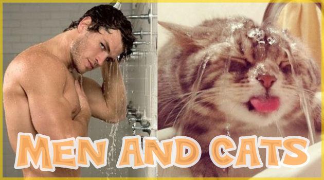 ネコってやっぱりイケメン!男性モデルとネコの比較写真集