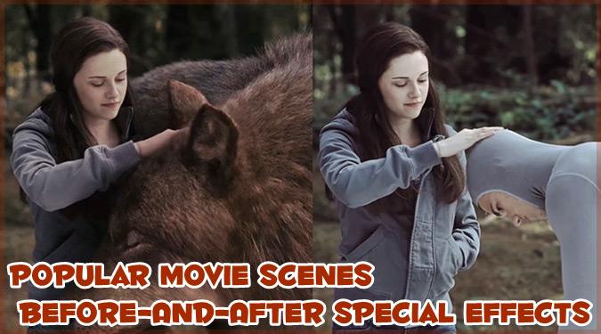 あの有名な映画のワンシーンに視覚効果を加える前と後の写真集!
