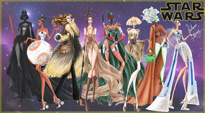 スターウォーズをテーマにした女性用ファッションのデザイン集!