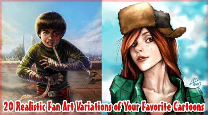 アニメやゲームの人気キャラクターをリアルに描いたファンアート集
