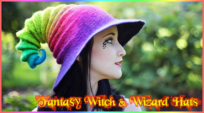 これであなたも魔法使いの仲間入り!キュートなウィザード帽子!