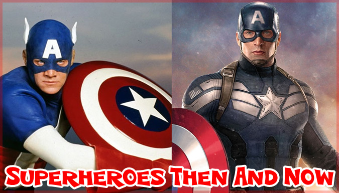 あの実写化されたスーパーヒーローたちの現在と過去を比べた写真集