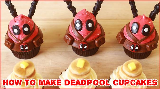 メープル風味のかわいいデッドプール・カップケーキの作り方!