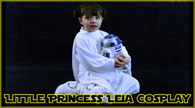 海外の小さな女の子によるレイア姫のコスプレが登場!