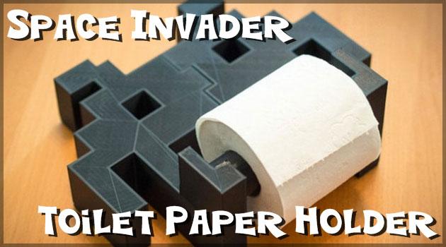 トイレットペーパーがインベーダーに侵略された!?