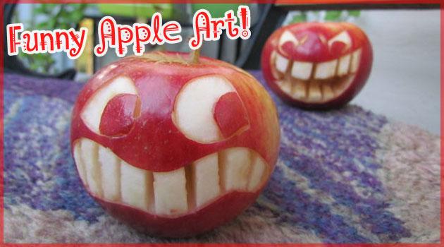 18歳の女の子が林檎に生命を宿した可愛らしいアート作品