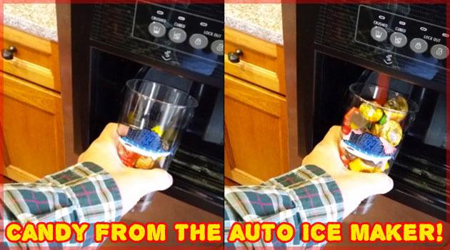 天才的なアイディアのお菓子充填機!いつでもお菓子が食べ放題!