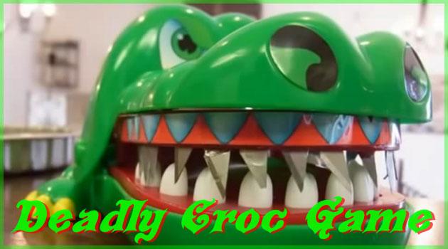 ワニの玩具に鋭い牙を取り付けてロシアンルーレットをする日本人