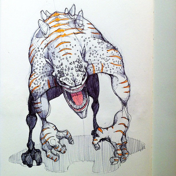 monstrous-alien-like-creature-sketchbook-drawing-2