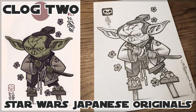 スターウォーズのキャラクターを日本風に描いたイラスト作品!
