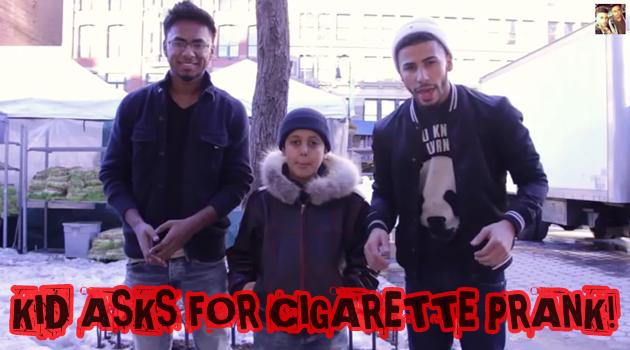 9歳の少年に煙草を与えるドッキリ!ニューヨークの社会実験