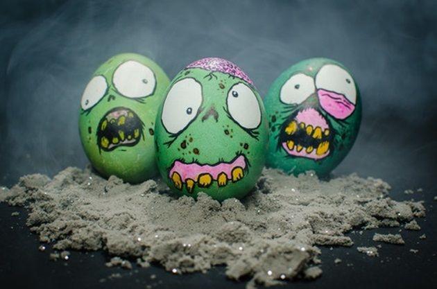 グロ可愛いゾンビのイースターエッグ!ゾンビの復活祭!