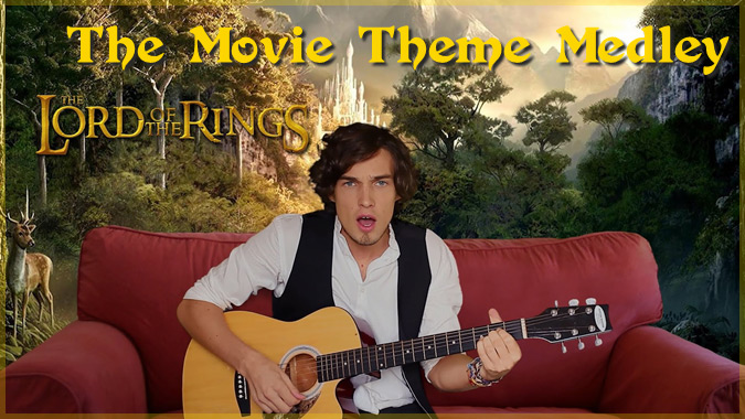 13の人気映画のテーマ曲をメドレーで演奏したスウェーデンのミュージシャン