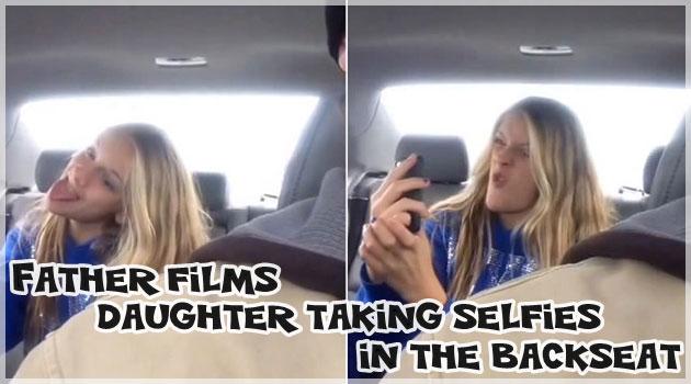 変顔をする女の子の恥ずかしい自撮りシーンを隠し撮り!