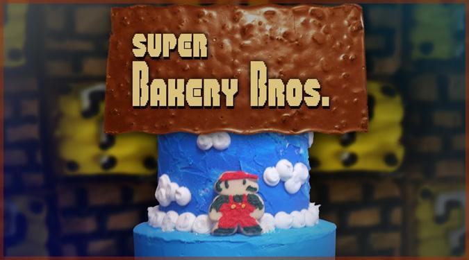 スーパーマリオブラザーズの1-1を回転ケーキで再現したコマ撮りアニメ!