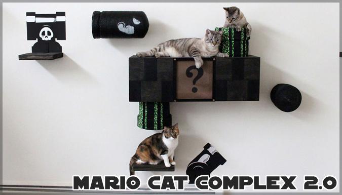 スーパーマリオの世界観が再現されたネコちゃんの遊び場グッズ!
